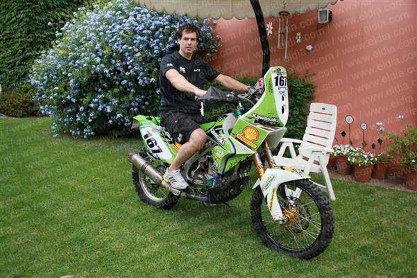 """Juan  Cruz Ortiz y hacer el Dakar en moto: """"Le teníamos mucha confianza porque es muy serio arriba de una moto"""" dijo su papá Osvaldo"""