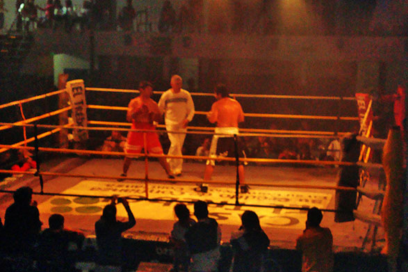 Fito Reynoso hizo adelantos del festival de box del viernes