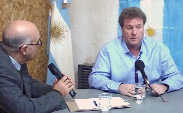 El dip. Milman recorrió Chascomús con candidatos locales