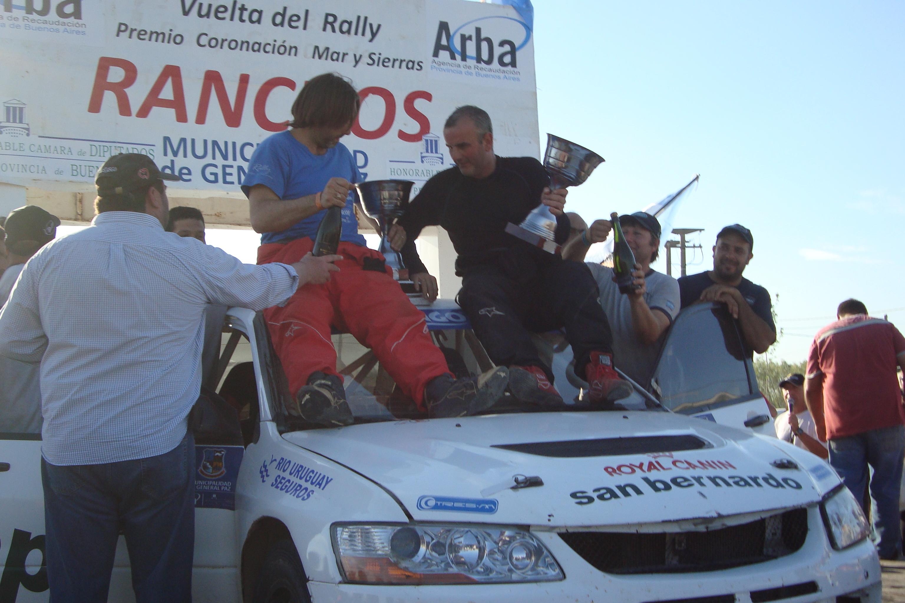 Rally M. y Sierras: Ganó Castelo en Ranchos, y entre los festejos de esta zona, Obstronsky se llevó un título a Chascomús