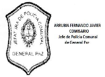Informe de la Policía Comunal de Gral Paz