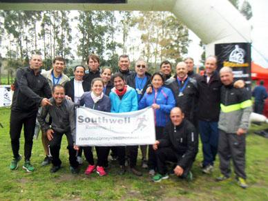 17 Atletas del Southwell Running Team participaron de 10 k y 25 k en Sierra de los Padres y trajeron  4 medallas.