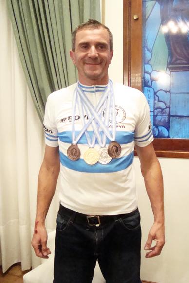 José Omar Fredes, Campeón Panamericano de Ciclismo, Master B