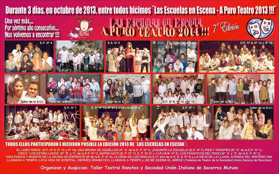 LAS ESCUELAS EN ESCENA – A PURO TEATRO 2014 !!!