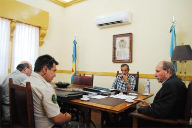 El Intendente Gobbi recibió a miembros de la Patrulla Rural de Chascomús