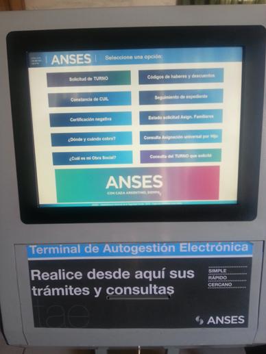 ANSES Gral. Paz: Terminales de Autogestión Electrónica en la localidades de Villanueva y Loma Verde