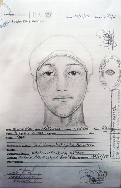 Policía Cnal. de Gral. Paz: Realizan identikit de uno de los imputados en el robo a Etcheverry