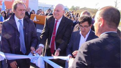 Scioli inauguró la repavimentada ruta 20 Ranchos – Chascomús