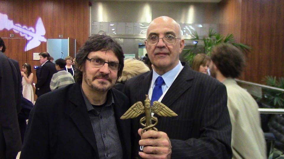 """Ecos del premio CADUCEO.- Felipe Pigna: """" Por cierto debo ser el único comunicador que trabajo en Clarin y en la TV Pública"""""""