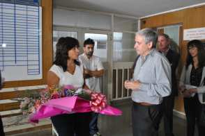 Javier Gastón recibió a la Ministra de Salud, Zulma Ortiz