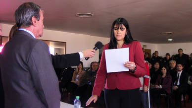 Con la presencia de la Procuradora General de la Suprema Corte de Justicia de la Provincia de Buenos Aires Dra. María del Carmen Falbo asumió como Ayudante Fiscal la Dra. Rosario Di Raddo