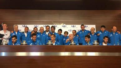 Llegaron al país los campeones de la Copa Davis