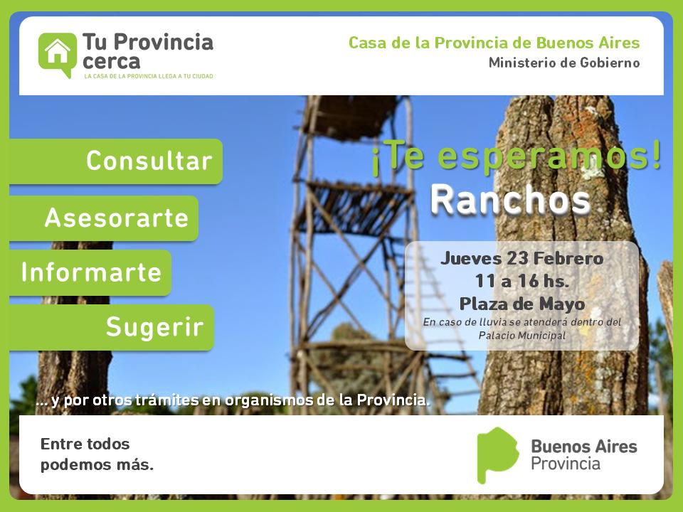 """TU PROVINCIA CERCA"" llega a Ranchos"