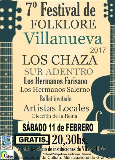 Villanueva: Sábado 11 de Febrero 7º Festival Folklórico