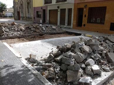 Municipalidad de General Paz:  CALLE INTERRUMPIDA AL TRANSITO POR OBRA DE MEJORAMIENTO URBANO.