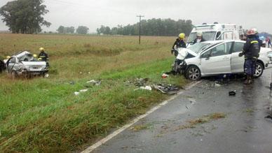 Domingo trágico: Fallecen en un choque en la ruta 29 tres vecinos rancheros