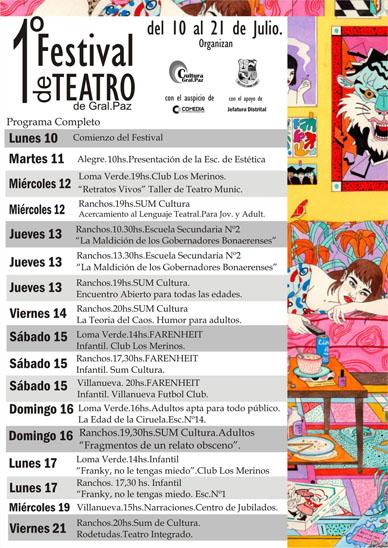 1º Festival de Teatro de General Paz