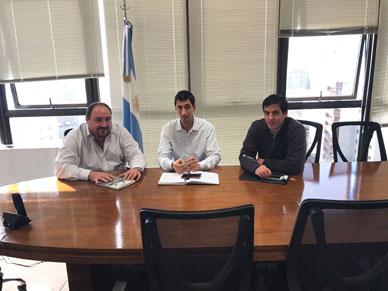 General Paz: El Intendente Alvarez y el Secretario Lorenzín, se reunieron con el Subsecretario de Servicios Públicos de la Provincia