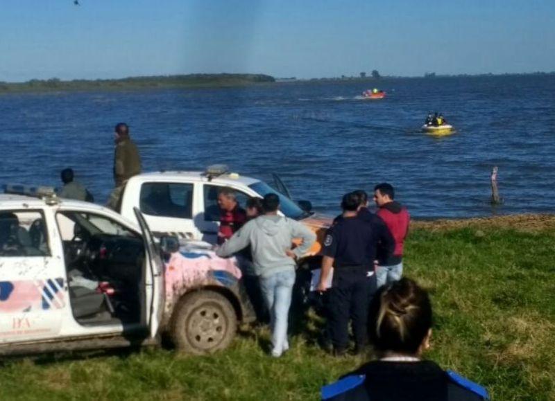 Chascomus: Hallaron cuerpo en la laguna de Adela: sería el de Hugo Sebastián Lucero