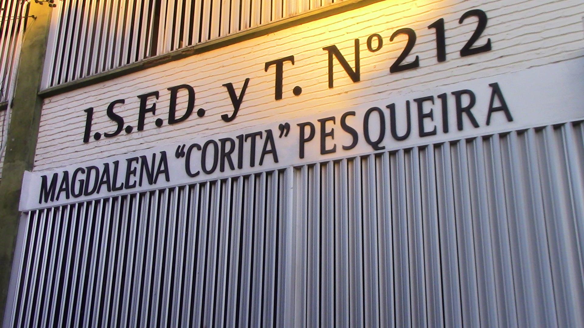 El Instituto de Formación Docente y Técnica nº 212 de Ranchos lleva el nombre de Magdalena «Corita» Pesqueira
