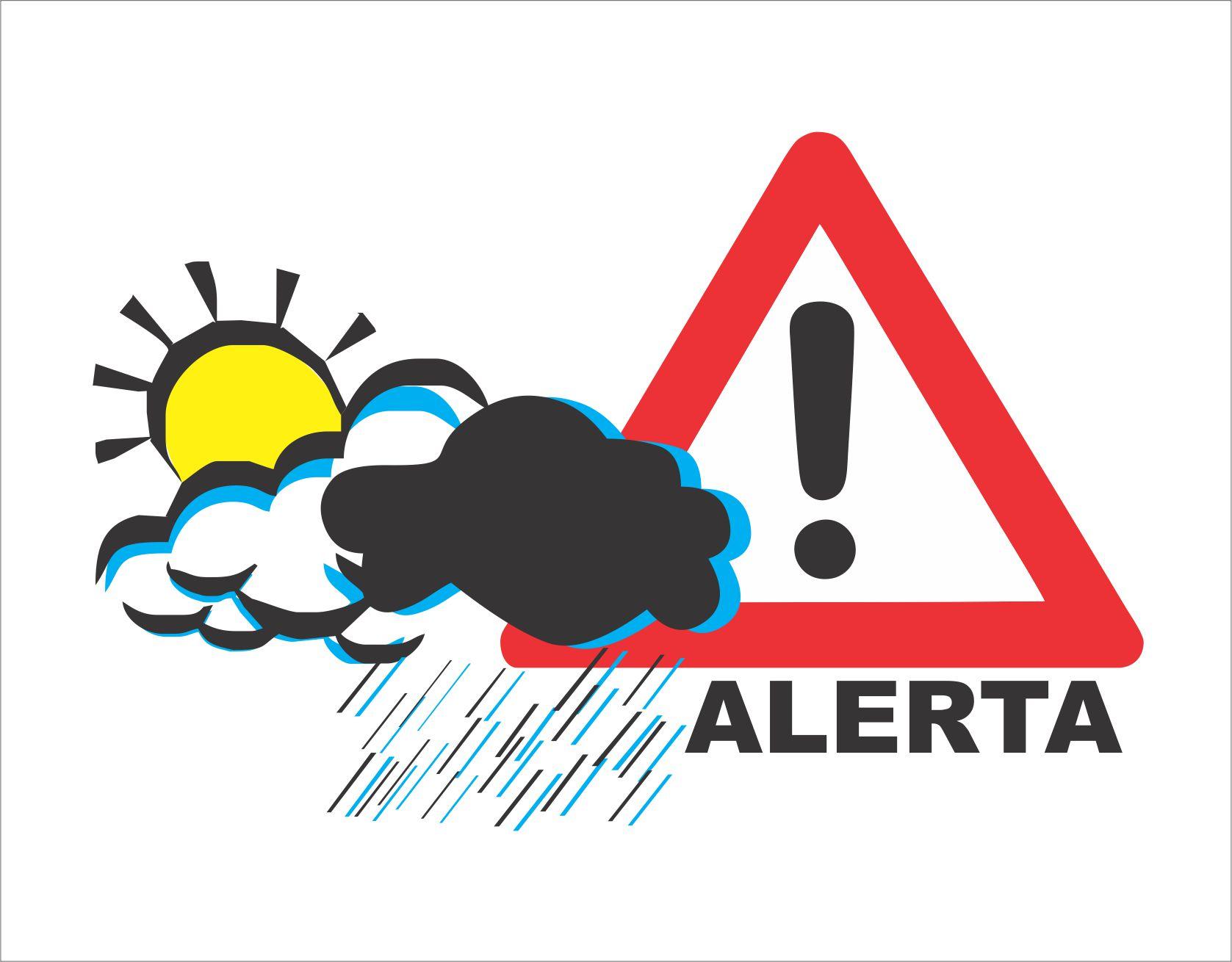 ALERTA METEOROLOGICO: TORMENTAS FUERTES CON RAFAGAS Y OCASIONAL CAIDA DE GRANIZO.