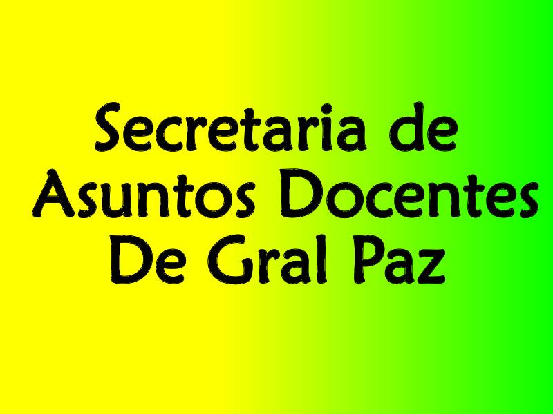 Informa Secretaria de Asuntos Docentes Distrital de Gral. Paz