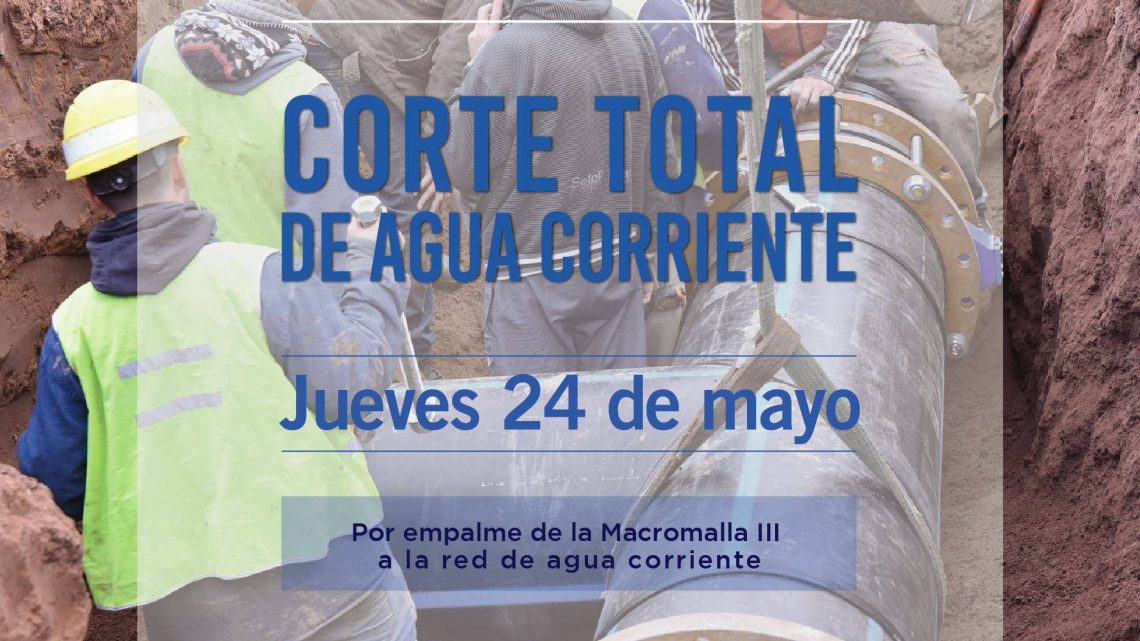 Chascomús: corte total de agua para este jueves 24 de mayo