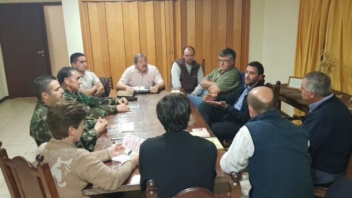 Se realizó la reunión en Monte para implementar el SOS Rural en esa localidad con buenos resultados