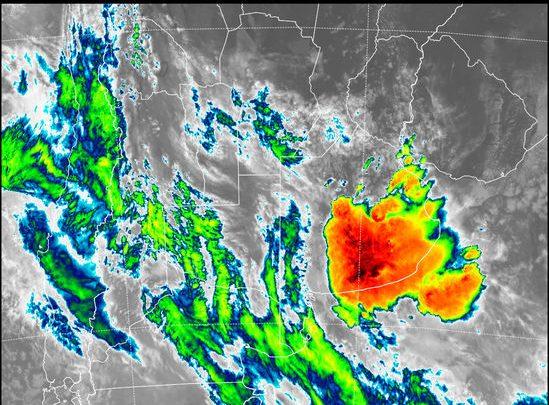 Alerta meteorológico: TORMENTAS FUERTES CON RAFAGAS Y OCASIONAL CAIDA DE GRANIZO.