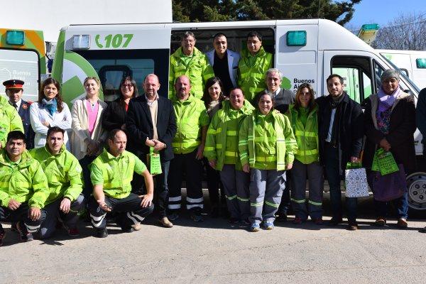 El SAME entregó una ambulancia cero kilómetro y totalmente equipada al Hospital