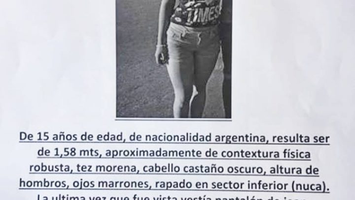 Chascomús: Buscan a la joven Lucía Isabel Urtea