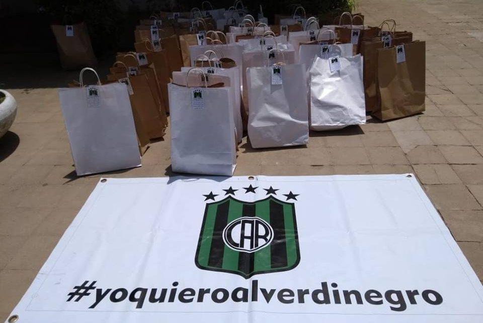 El Club Atletico Ranchos hizo entrega de Bolsas Navideñas a Casa del Niño