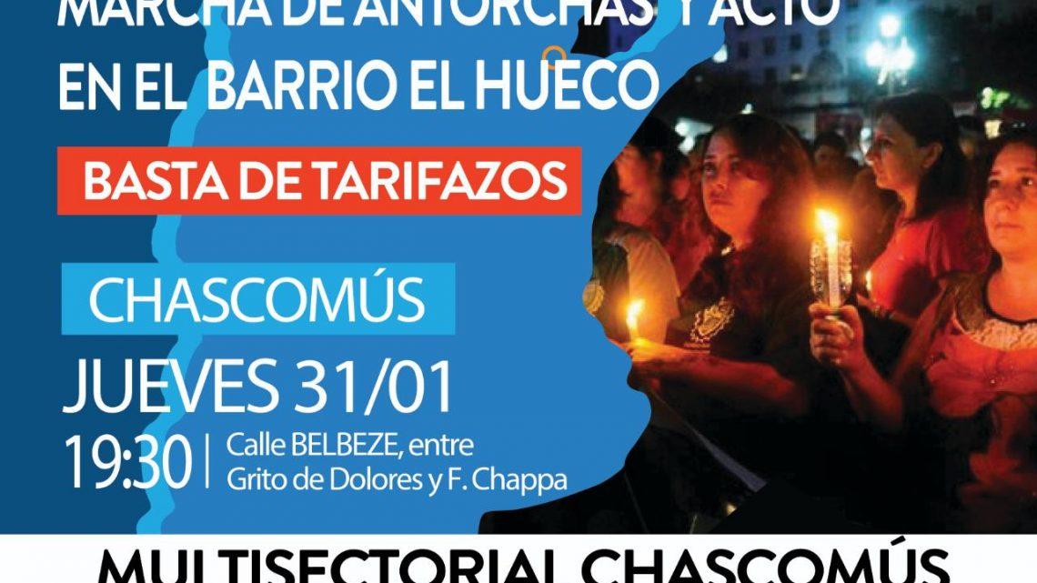 Chascomús: Continúa el reclamo contra los tarifazos y el ajuste