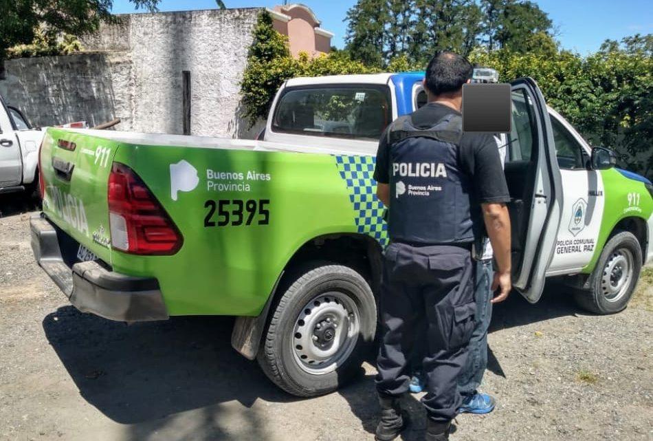 Informe de la Policía Comunal de General Paz: Persona detenida con pedido de captura activo