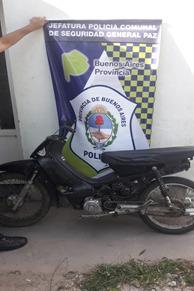 Informe de la Policía Comunal de General Paz: SECUESTRO DE MOTOVEHICULO POR ROBO y ROBO ESCLARECIDO