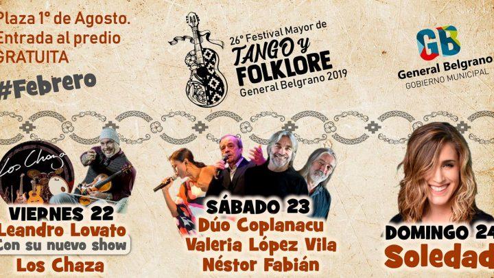 26° Festival Mayor de Tango y Folklore General Belgrano 2019