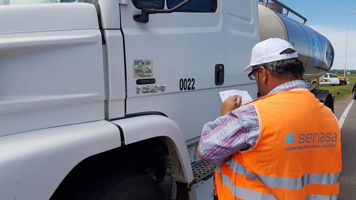 Senasa intensifica los procedimientos de fiscalización integral a transportes en rutas bonaerenses