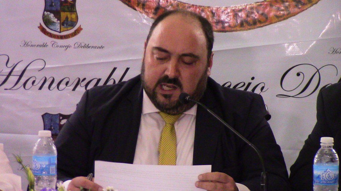 Mensaje del intendente Alvarez en el HCD