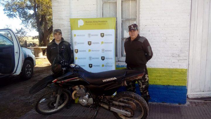 Informe del Comando de Prevención rural de General Paz: Secuestro de una motocicleta