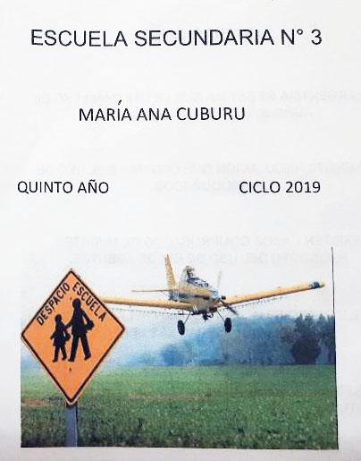 CHARLA SOBRE AGROQUÍMICOS EN  LA ESCUELA SECUNDARIA Nº 3 VILLANUEVA