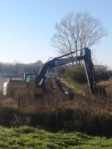 Municipalidad de General Paz: Se ejecuta obra complementaria de sistema hídrico urbano