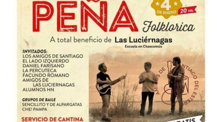 Peña folklórica a beneficio de la escuela «Las Luciérnagas»