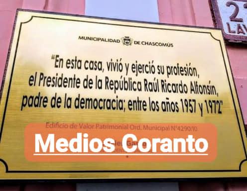 CHASCOMÚS: Ponen en venta el hotel que funciona en la casa donde vivió Alfonsín.