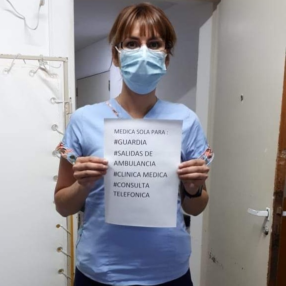 """Dra. Silvia Lamas  """"Le rogaba a Dios que no pasara porque dejaba el hospital solo"""""""