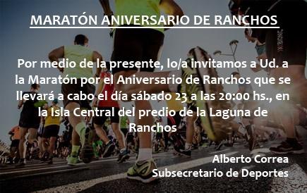 Maratón aniversario de Ranchos