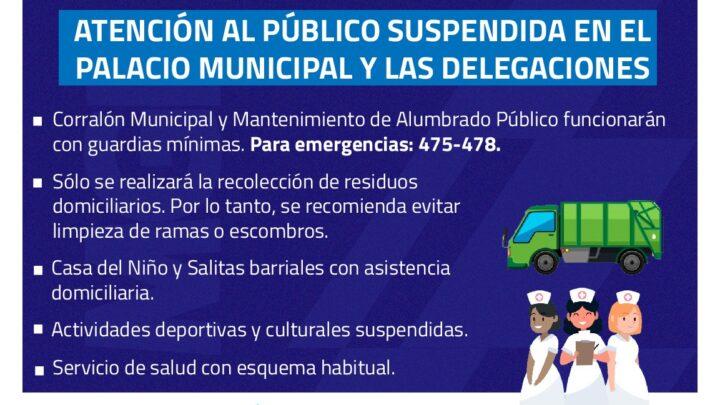 COMUNICADO OFICIAL: Esquema de atención municipal